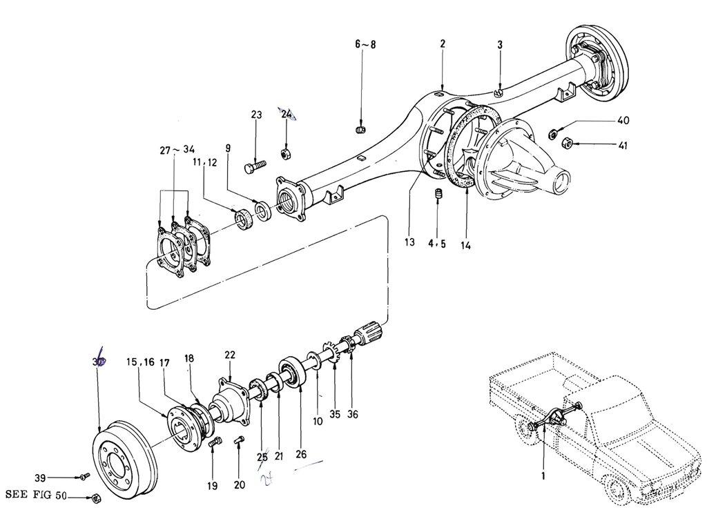 Datsun Pickup (520/521) Rear Axle Case