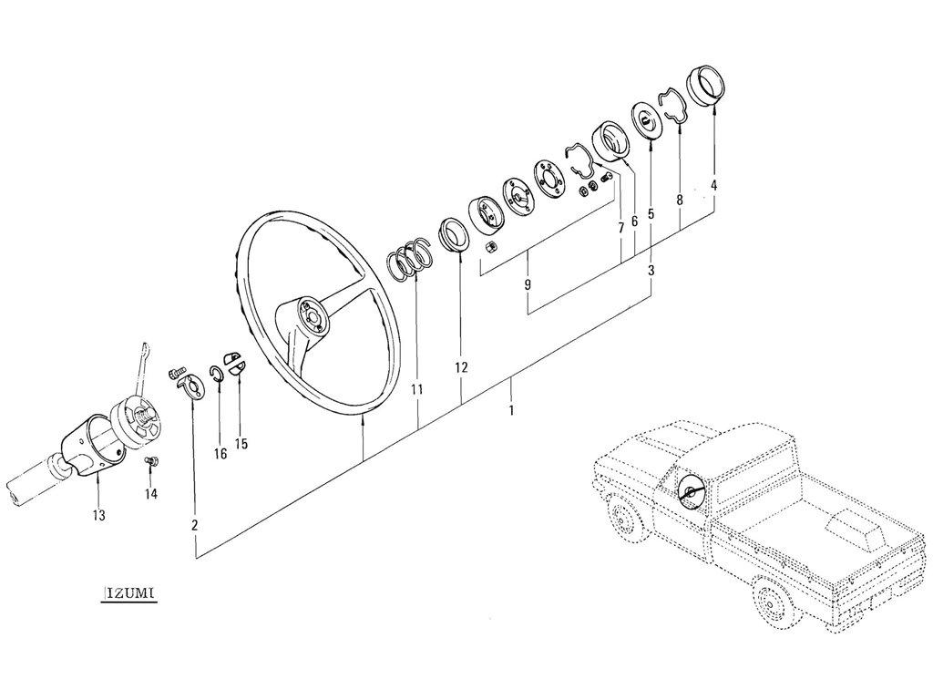 Datsun Pickup (520/521) Steering Wheel