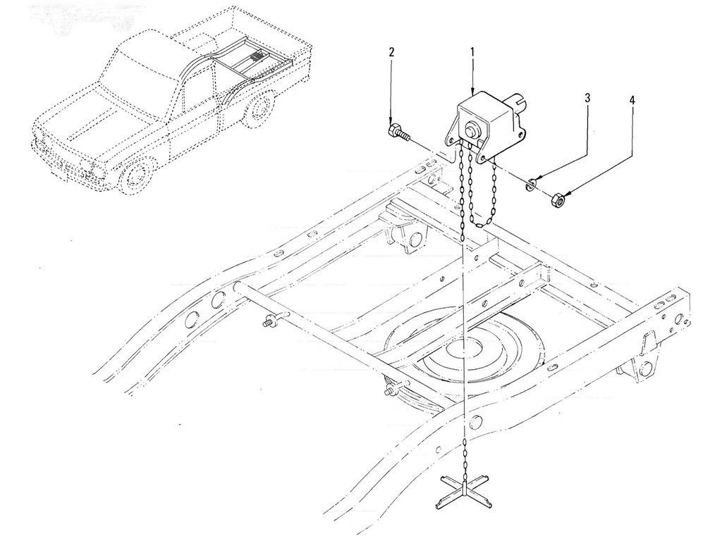 Datsun Pickup (520/521) Spare Wheel Hanger