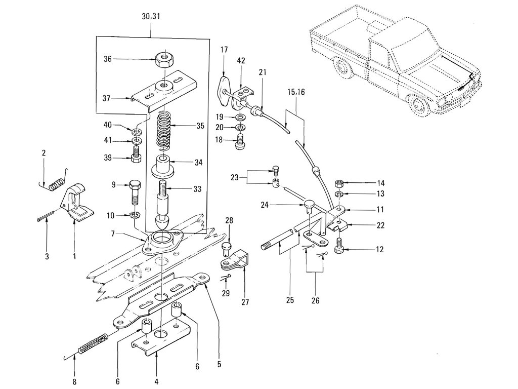 Datsun Pickup (520/521) Hood Lock