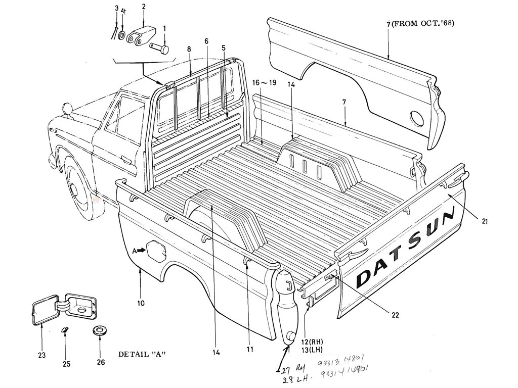 Datsun Pickup (520/521) Rear Body