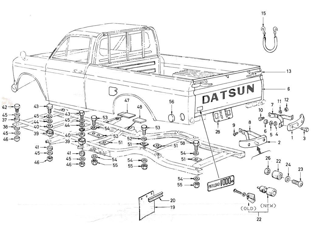 Datsun Pickup (520/521) Body Mounting