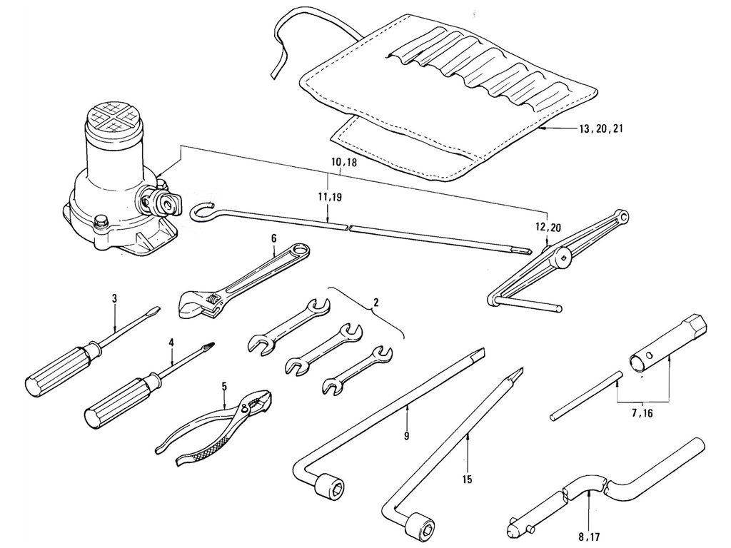 Datsun Pickup (520/521) Tool Kits