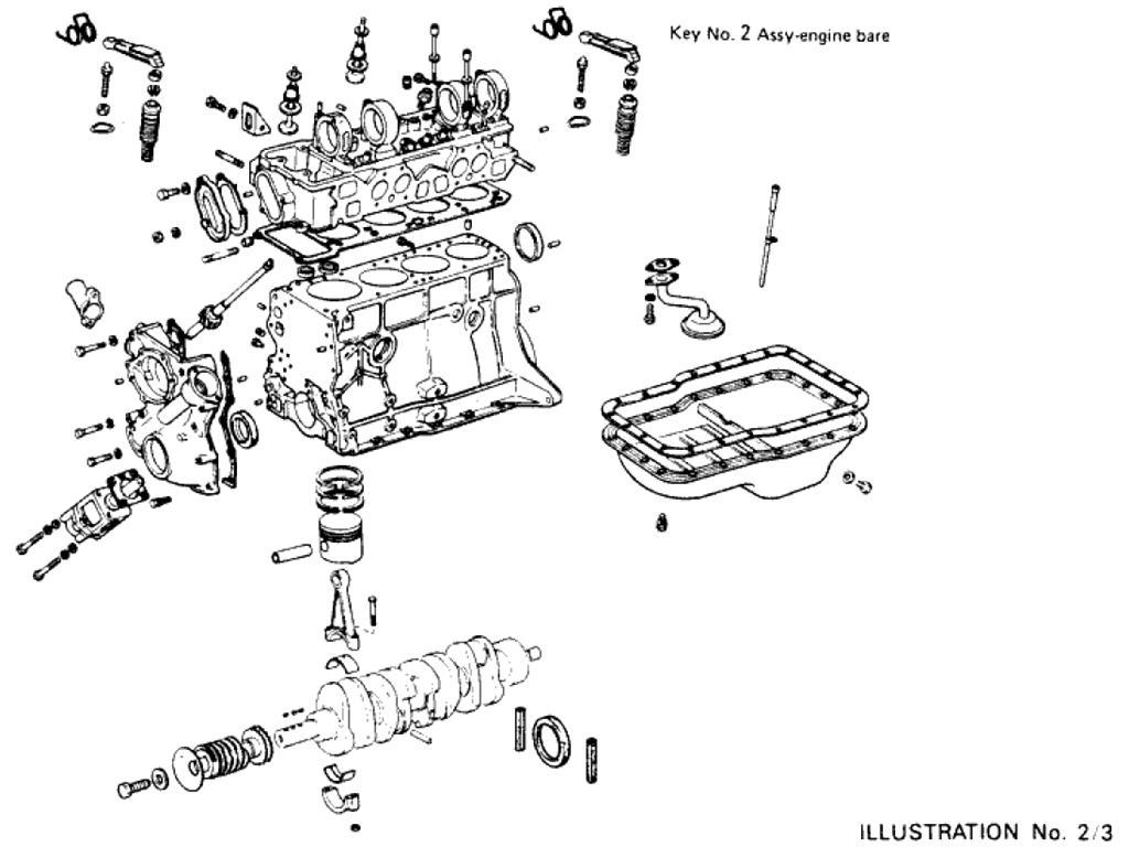 Datsun Pickup (620) Engine Assembly (L20B)