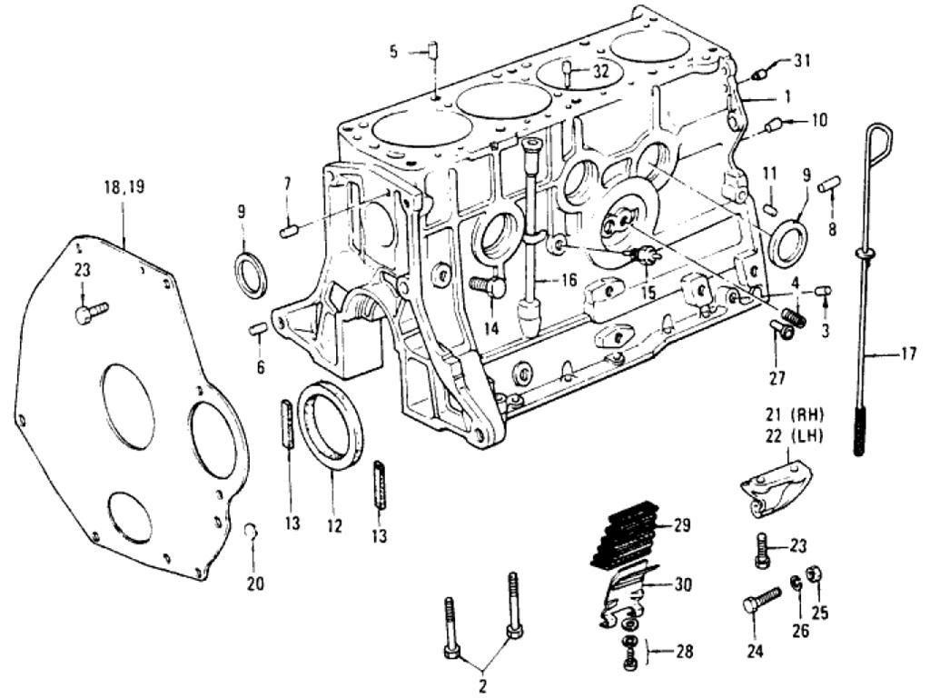 Datsun Pickup (620) Cylinder Block (L20B)