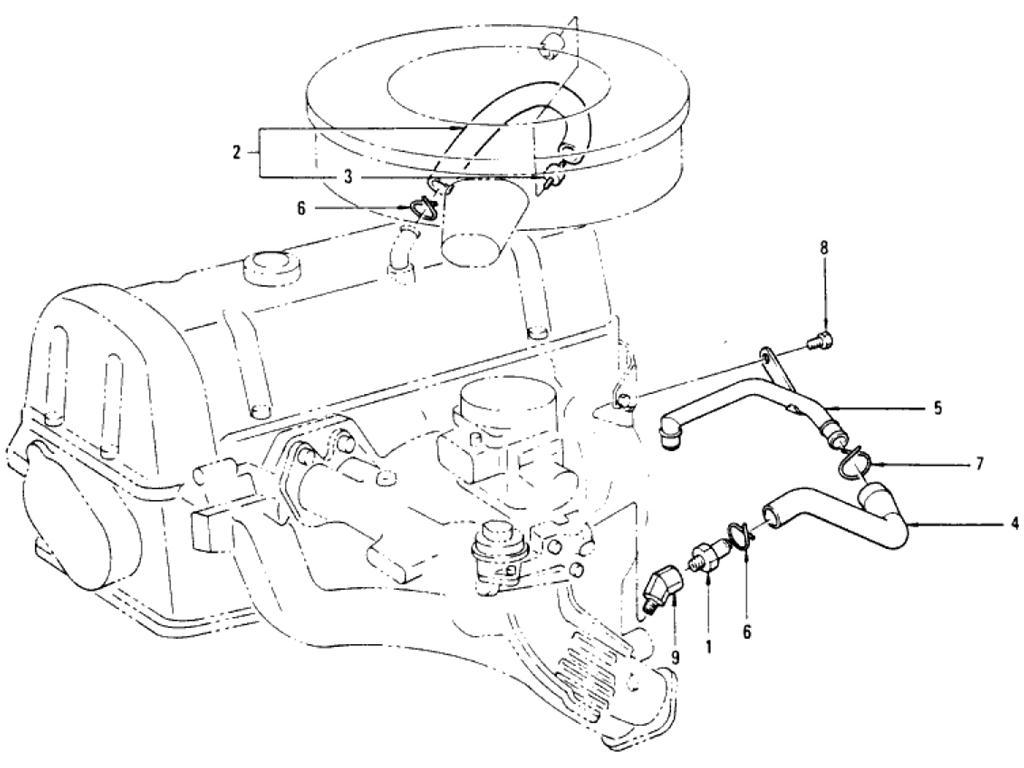 Datsun Pickup (620) Crankcase Ventilation (L20B)