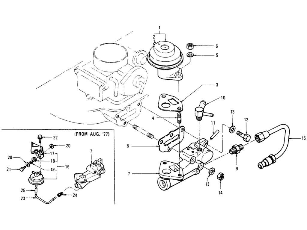 Datsun Pickup (620) EGR Parts (L20B)