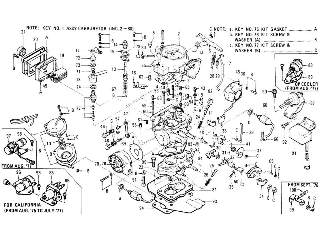 Datsun Pickup (620) Carburetor (L20B)