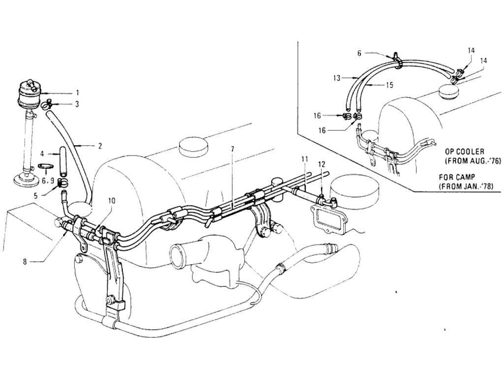 Datsun Pickup (620) Fuel Strainer & Fuel Hose (L20B)