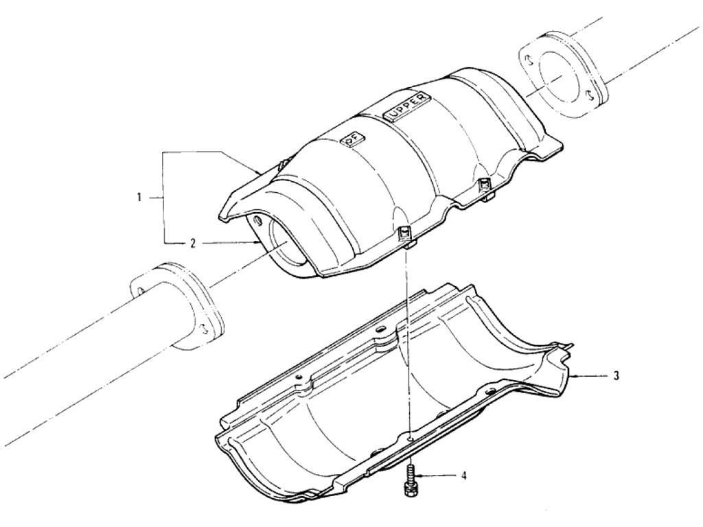 Datsun Pickup (620) Catalyst Converter (L20B)