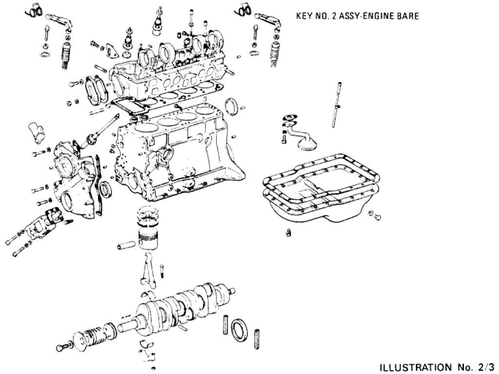 Datsun Pickup (620) Engine Assembly (L18)