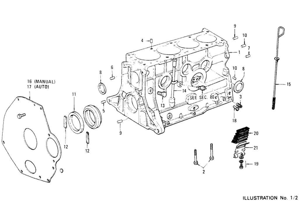 Datsun Pickup (620) Cylinder Block (L18)