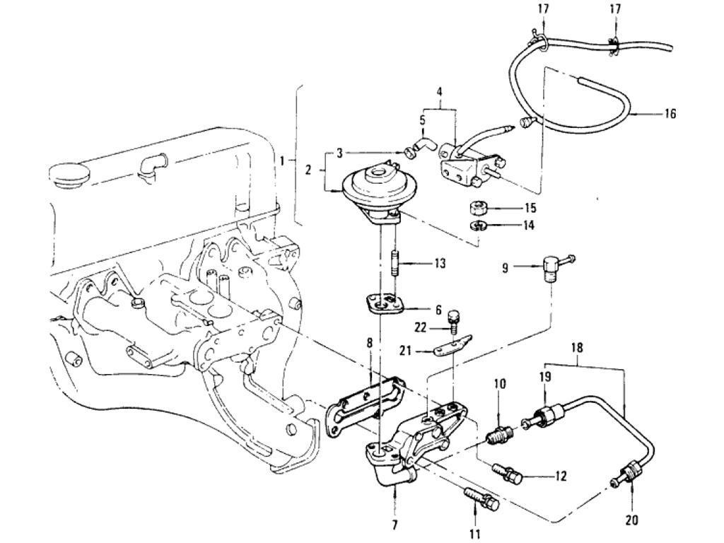 Datsun Pickup (620) EGR Parts (L18)