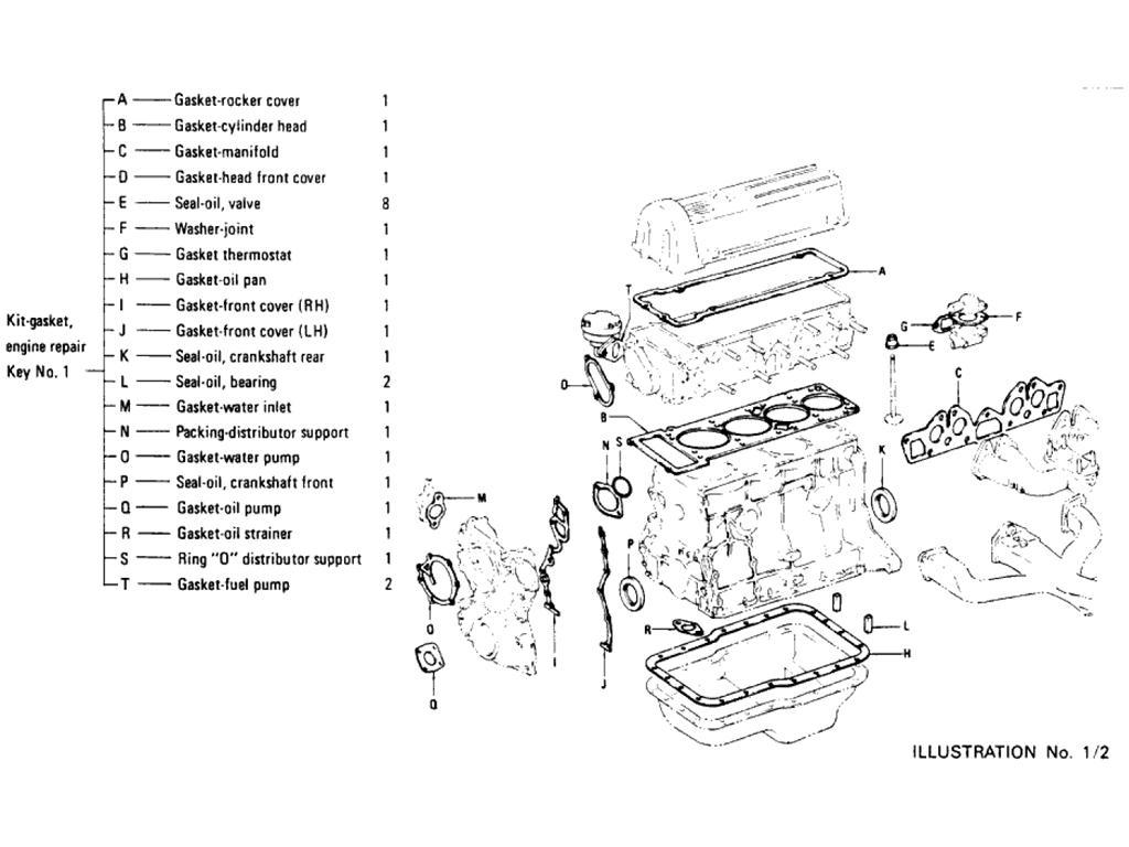 Datsun Pickup (620) Engine Gasket Kit (L16)