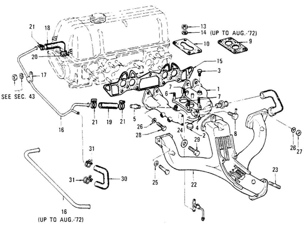 Datsun Pickup (620) Manifold (L16)
