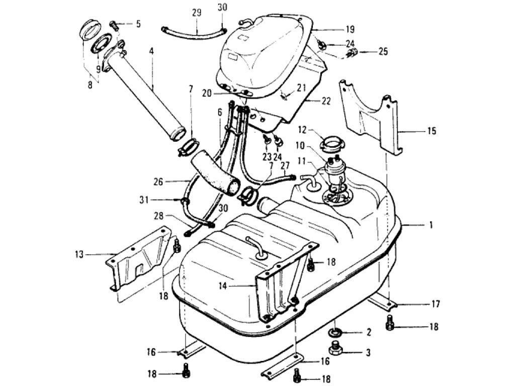 Datsun Pickup 620 Fuel Tank Index