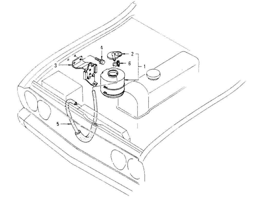 Datsun Pickup (620) Radiator Reservoir Tank