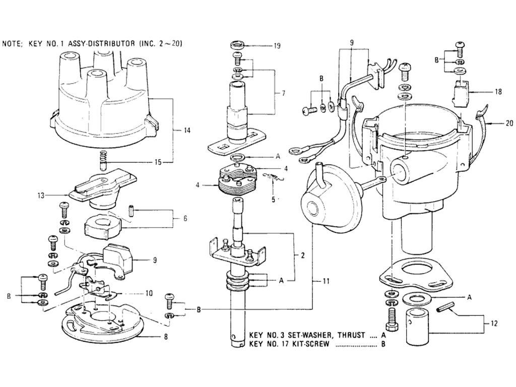 Datsun Pickup (620) Distributor (Hitachi D4F)