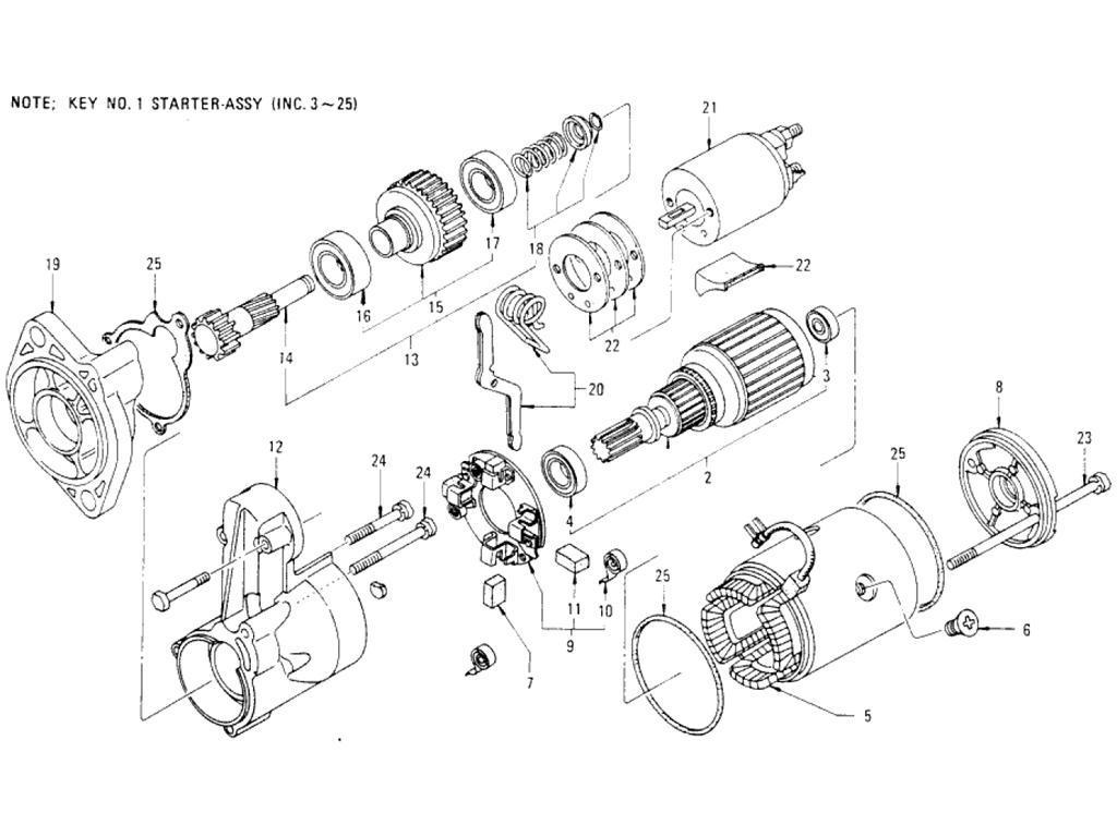 Datsun Pickup (620) Starter Motor (Op. USA)