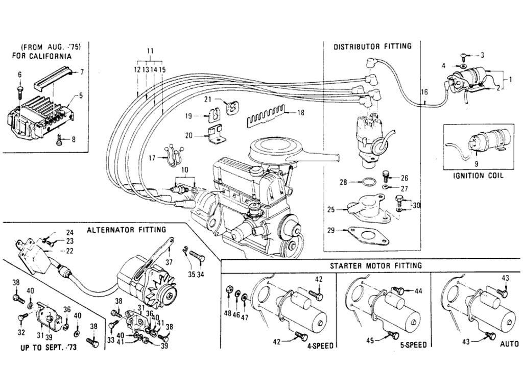 Datsun Pickup (620) Electrical Parts Mounting