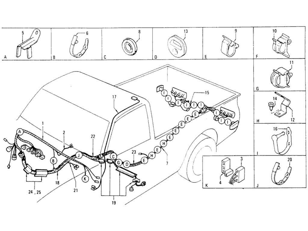 Datsun Pickup (620) Wiring (Body) (From Sep.-´74)
