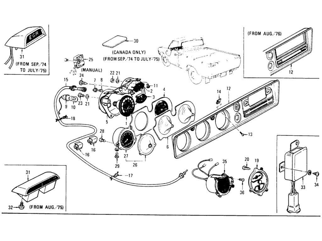 Datsun Pickup (620) Instrument Meter