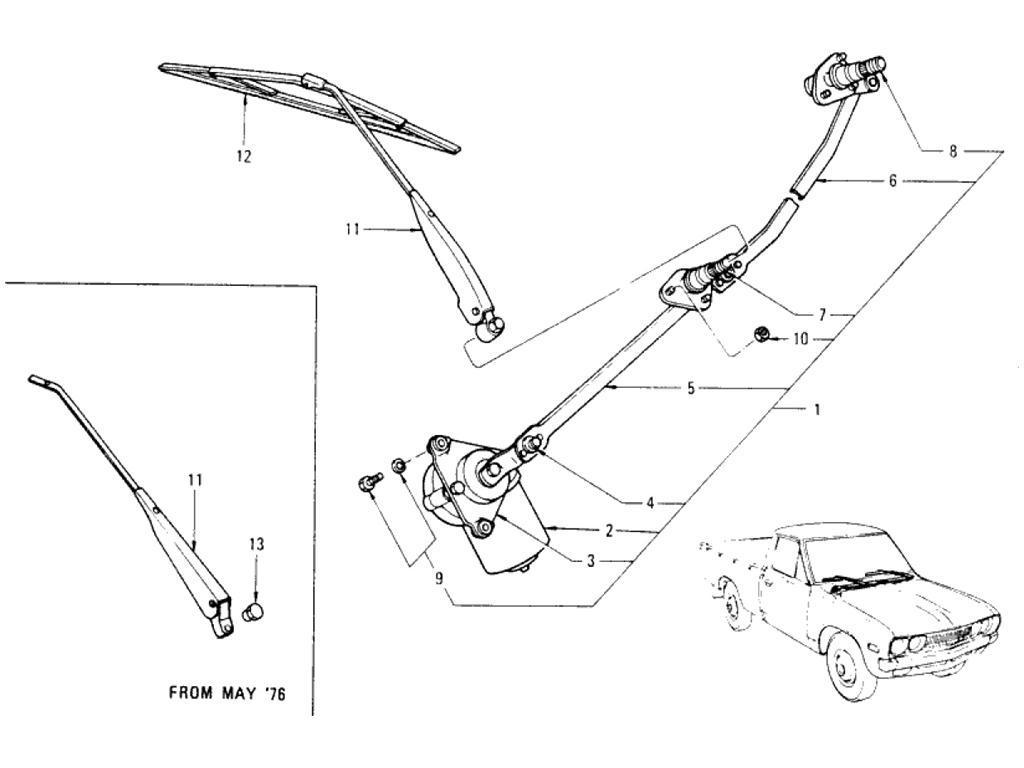 Datsun Pickup (620) Windshield Wiper