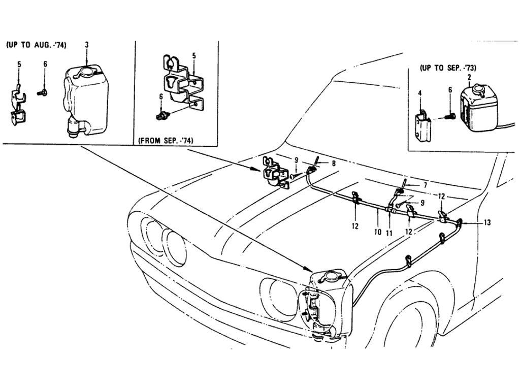 Datsun Pickup (620) Windshield Washer