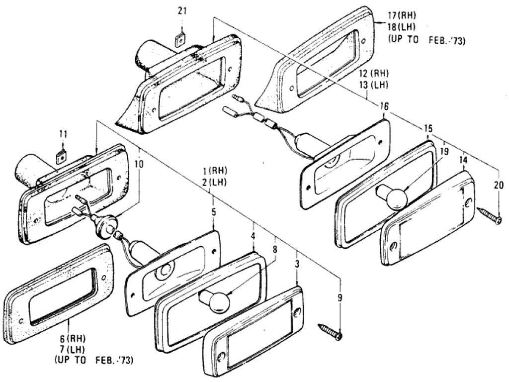 Datsun Pickup (620) Side Marker Lamp