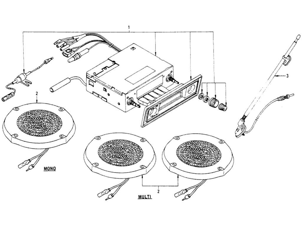 Datsun Pickup (620) Radio Kit (Clarion) (From Jul.-´74)