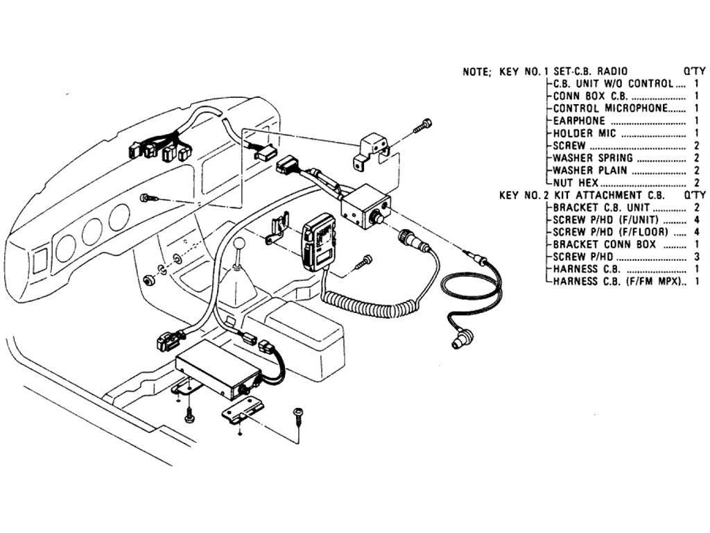 Datsun Pickup (620) C.B. Radio (From Jul.-´78)
