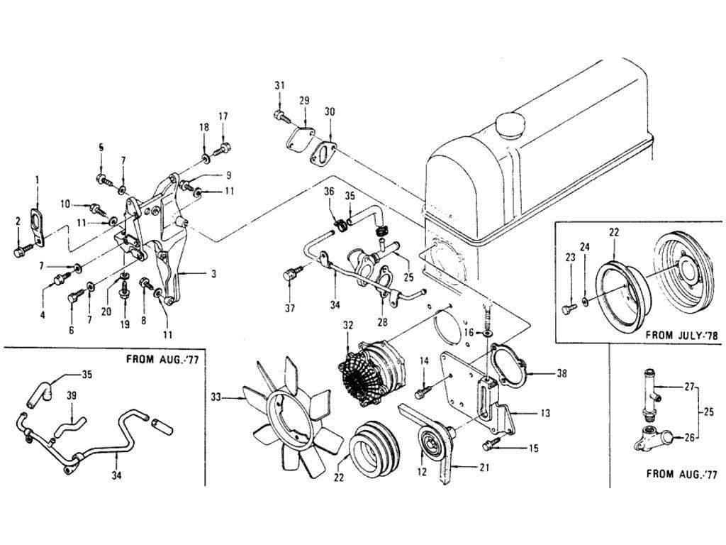 Datsun Pickup (620) Engine Fitting