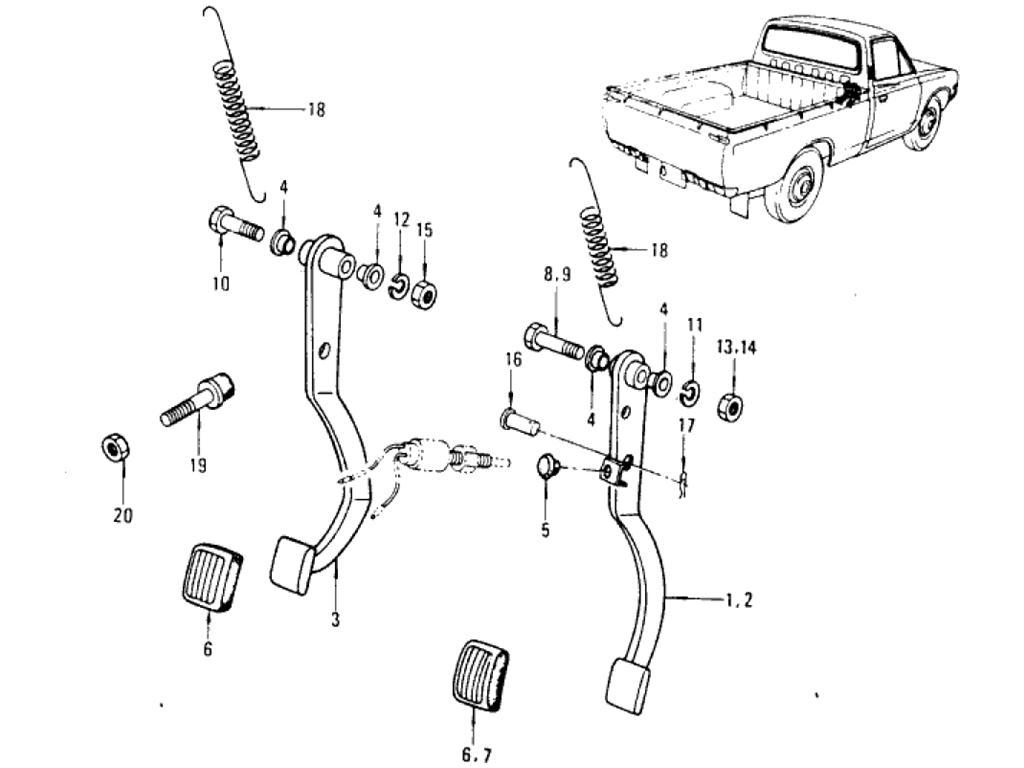 Datsun Pickup (620) Power Train Index