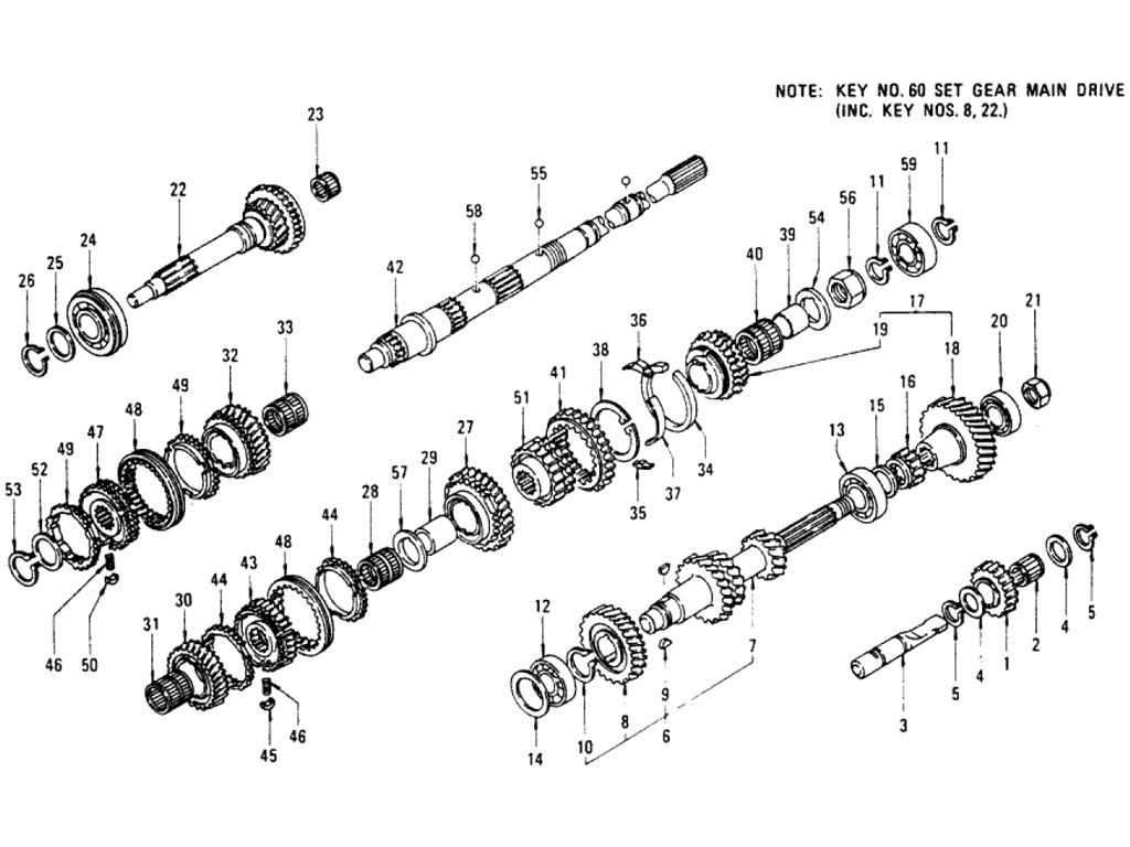 Datsun Pickup (620) Transmission Gear 5-Speed (FS5W71B