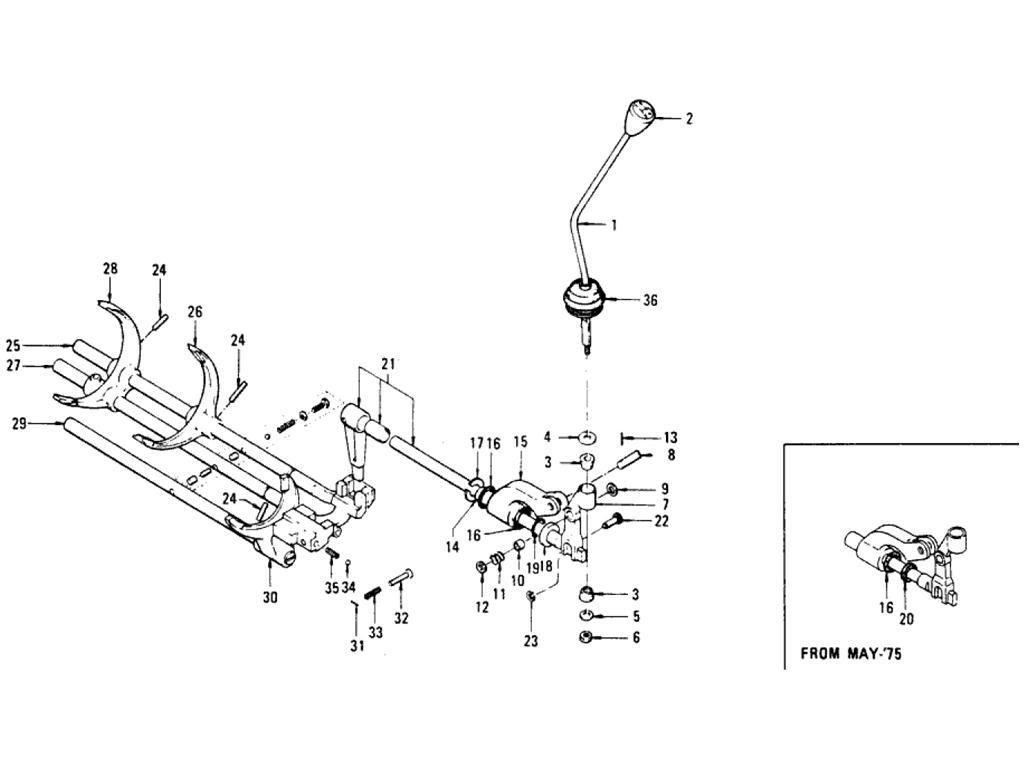 Datsun Pickup (620) Transmission Gear Shift (F4W63L) (To