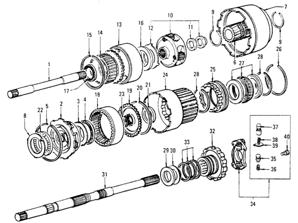 Datsun Pickup (620) Transmission Gear (Automatic)