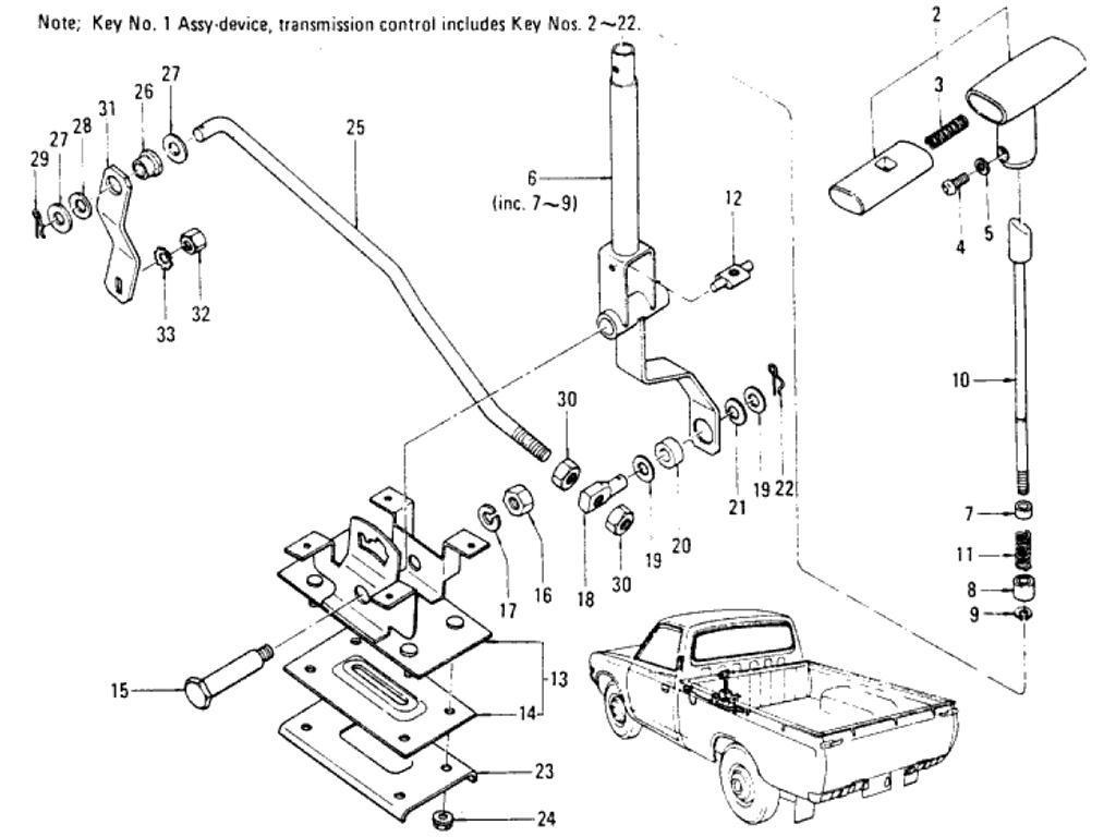 Datsun Pickup (620) Transmission Control Device (Automatic)