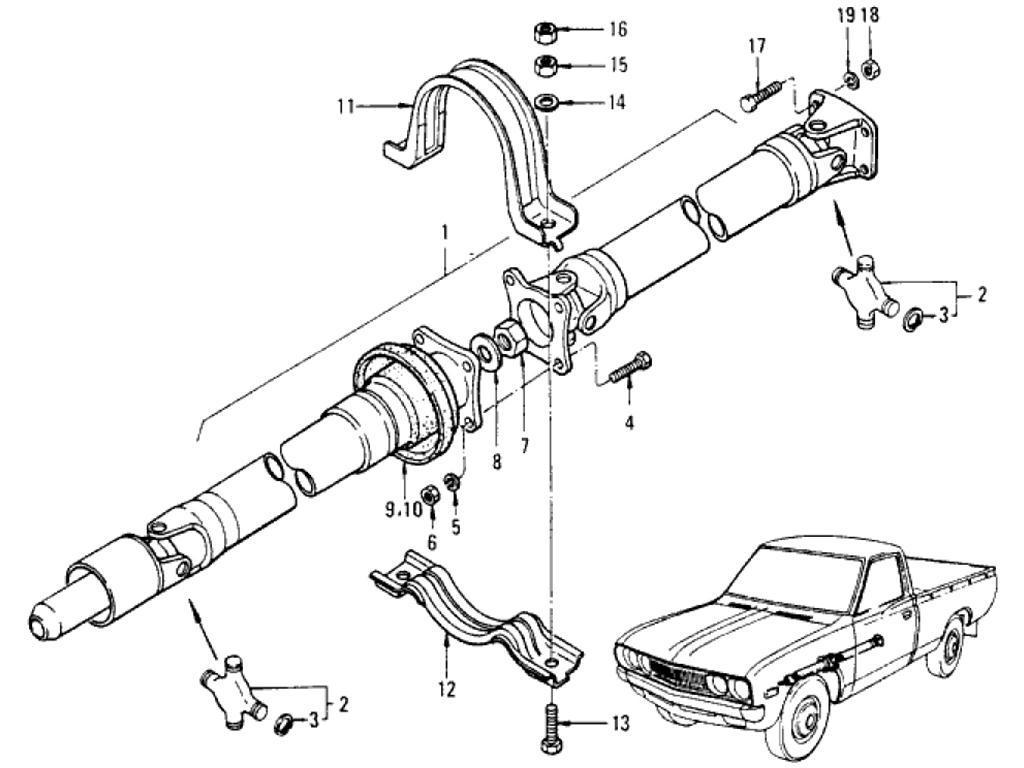 Datsun Pickup (620) Propeller Shaft