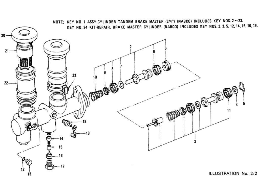 Datsun Pickup (620) Brake Master Cylinder (Nabco) (To Jul