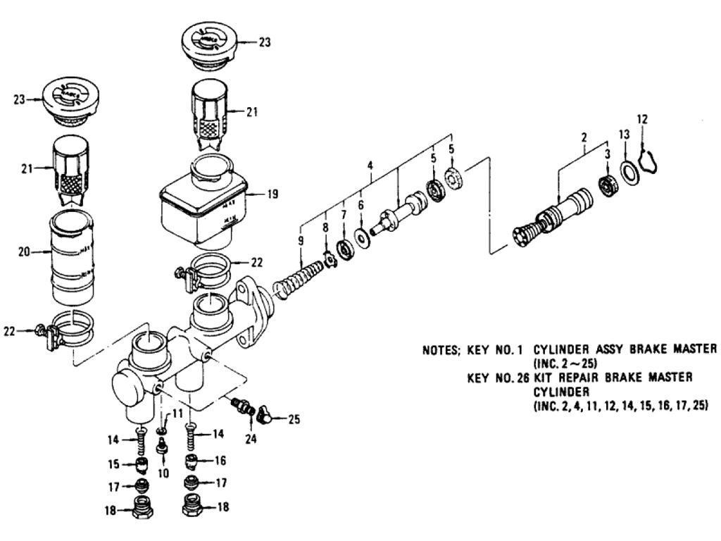 Datsun Pickup (620) Brake Master Cylinder (Nabco) (From