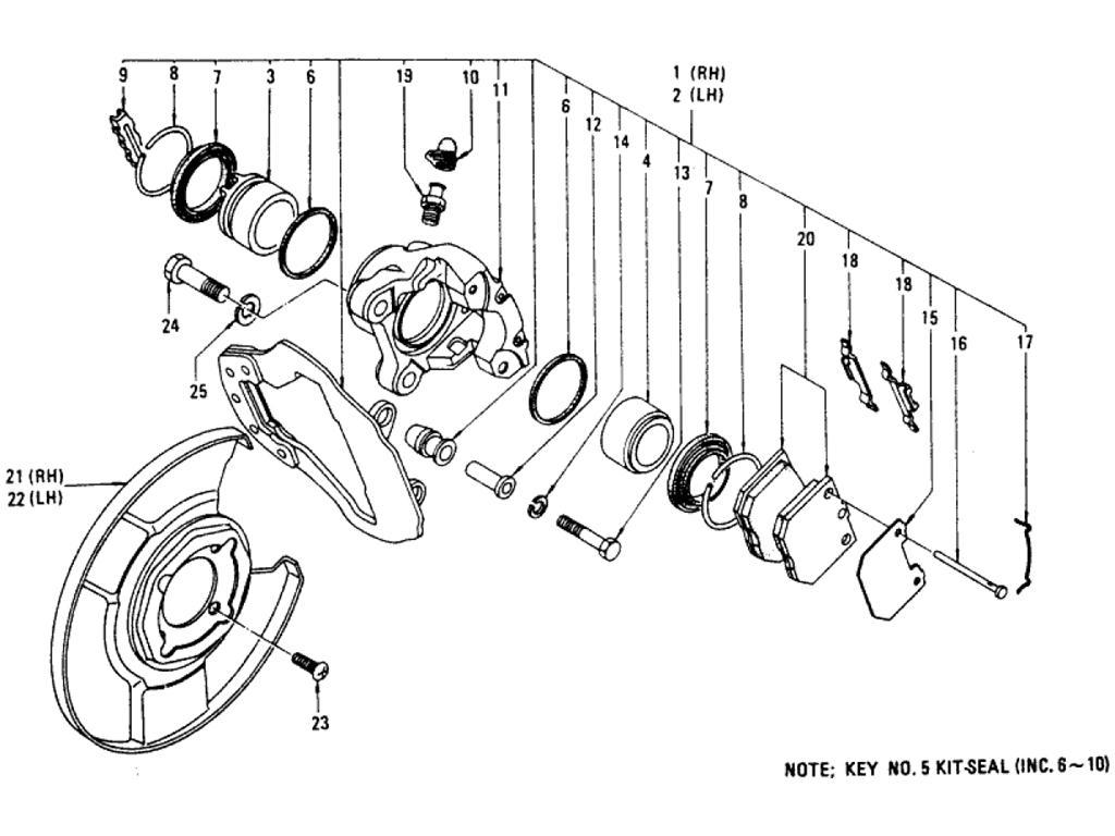 Datsun Pickup (620) Front Brake (Disc Type)