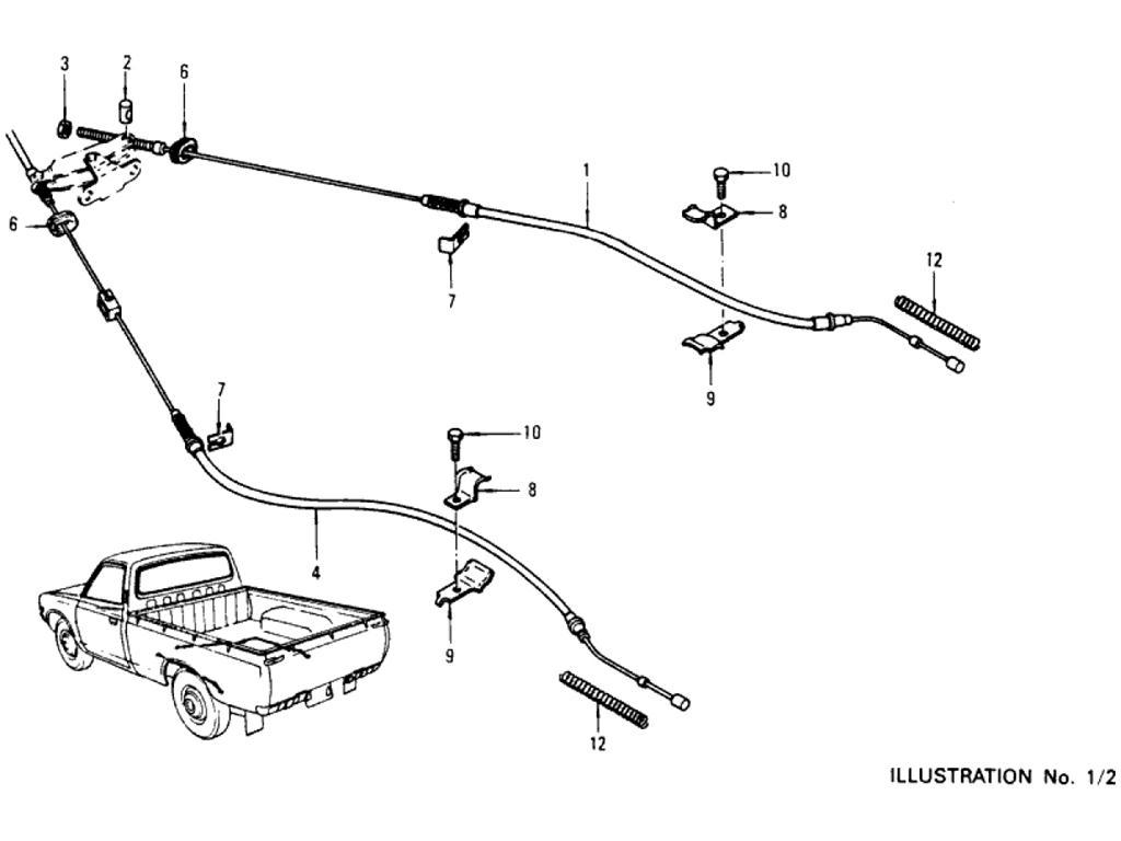 Datsun Pickup (620) Hand Brake Linkage