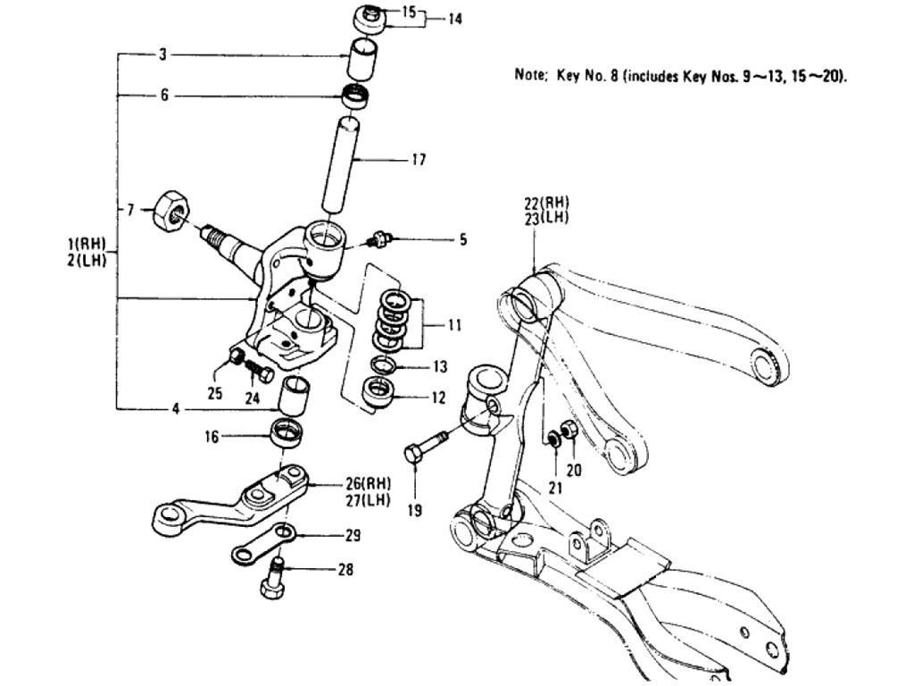 Datsun Pickup (620) Axle Index