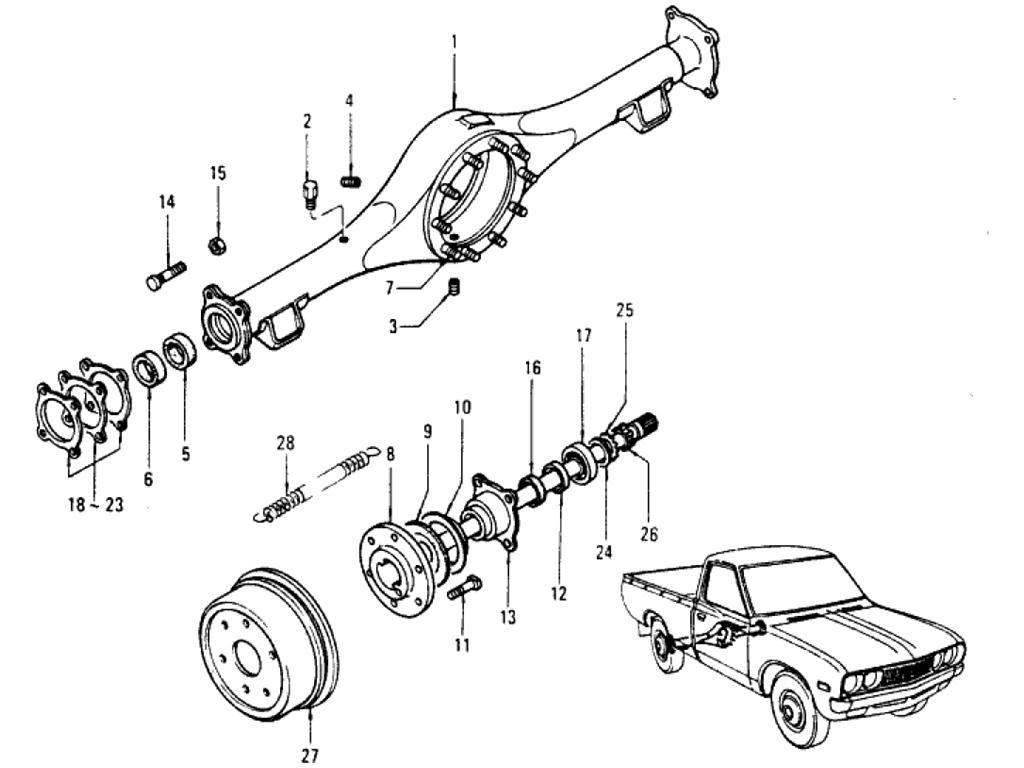 Datsun Pickup (620) Rear Axle