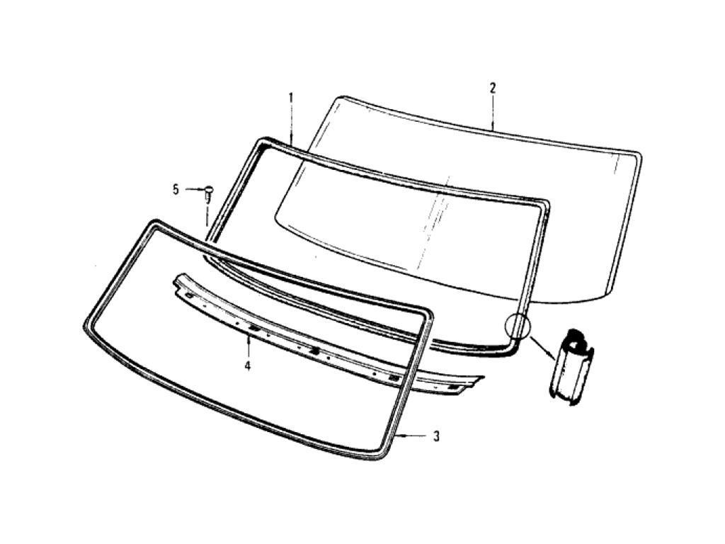 Datsun Pickup (620) Windshield Glass