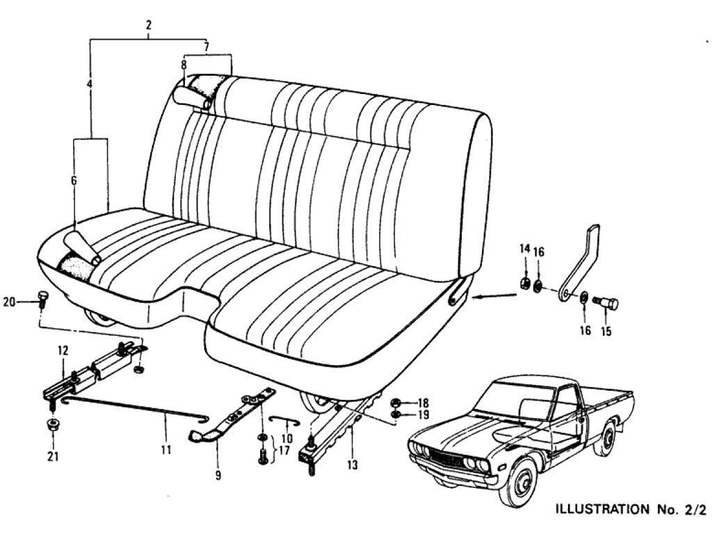 Datsun Pickup (620) Seat (Pickup)