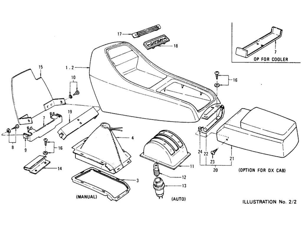 Datsun Pickup (620) Console Box