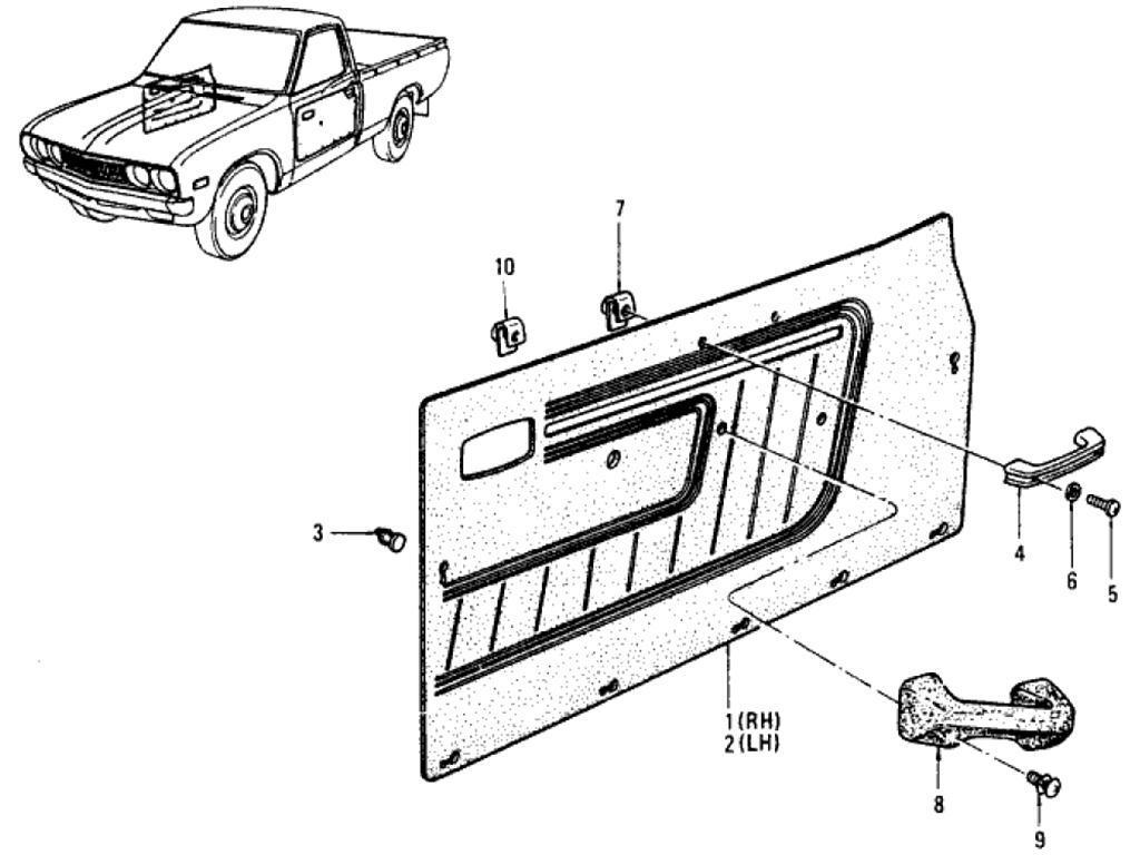 Datsun Pickup (620) Door Trimming