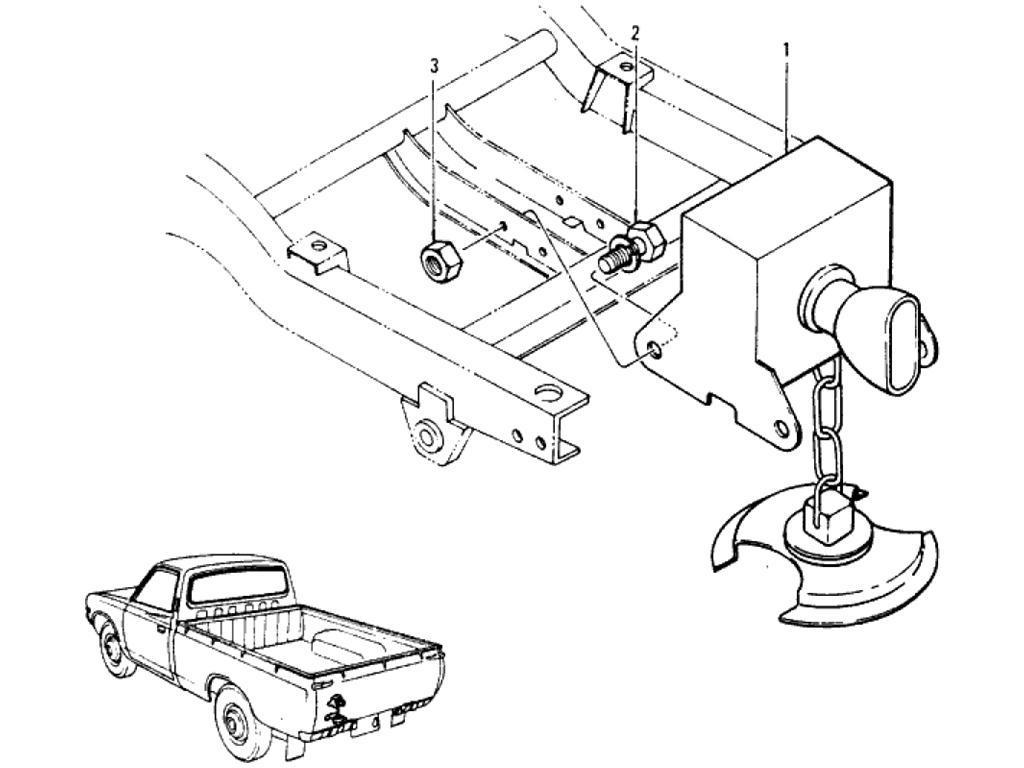 Datsun Pickup (620) Spare Wheel Hanger