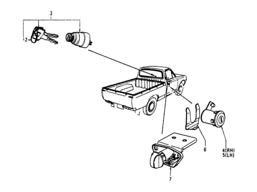 Datsun Pickup (620) Cylinder Lock & Key Set